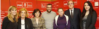 Reunión jurado Premio Feminismo PSOE Rosa Manzano , el jurado está compuesto por Carmen Calvo, Susana Ros, Ibán García Blanco, Amelia Valcarcel, Angel Gabilondo, Amparo Rubiales, y Maria Esperanza Satué