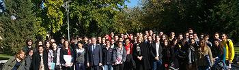 Participantes y colaboradores con el rector y la vicerrectora de Cultura y Extensión Universitaria.