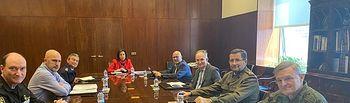 15/03/2020 (I-D) El Jefe De La UME, El Subsecretario De Defensa, El Jefe De Estado Mayor De La Defensa, Y Otros, Con La Ministra De Defensa, Margarita Robles (Centro), En La Reunión Para Coordinar El Papel De Los Militares En El Estado De Alarma Por El Coronavirus