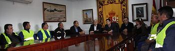 Fotografía del delegado de la Junta en Albacete, Pedro Antonio Ruiz Santos en la reunión realizada en este Consistorio de la provincia.
