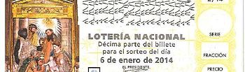 Décimo de la Lotería del Niño del 6 de enero de 2014