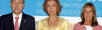 Reina Sofía, Ana Mato, Ban Ki-moon (Foto: EFE)