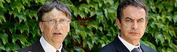 Zapatero y Bill Gates en rueda de prensa