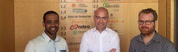 Héctor García y Alvaro Peñarrubia han visitado las instalaciones del Centro Europeo de Empresas e Innovación CEEI Albacete.