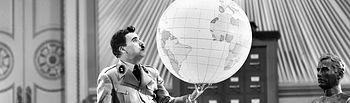 Charles Chaplin - Película El Gran Dictador. Archivo.