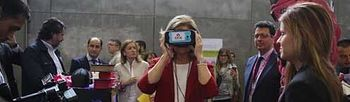 Fátima Bañez durante la Feria de Empleo Digital (Foto: Ministerio de Empleo y Seguridad Social)
