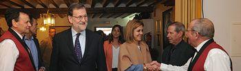 Mariano Rajoy y María Dolores de Cospedal en Puerto Lápice (Ciudad Real)