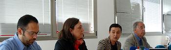 De izqda. a dcha.: Óscar Jerez, Ana Callejas, Beatriz Cabañas y Emilio Nieto.