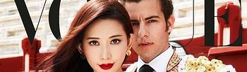 Portada VOGUE TAIWAN del mes de octubre, con Andrés Palacios junto a Lin Chi-Ling, actriz y modelo china.