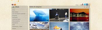 Imagen de la página web de la II Convención Sobre Cambio Climático y Sostenibilidad en España.