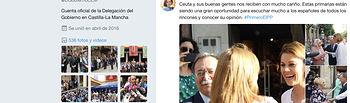 El PSOE exige explicaciones inmediatas sobre la utilización de la cuenta de twitter de la delegación del Gobierno de C-LM para apoyar la candidatura de Cospedal