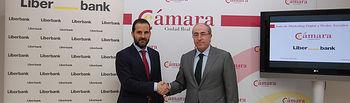 Firma de convenio de colaboración entre Liberbank y la Cámara de Comercio de Ciudad Real.
