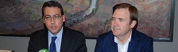 Diego Ortega junto a Mariano Ormeño
