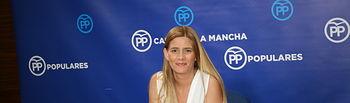 Caroluna Agudo, en rueda de prensa.