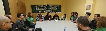 Marea Verde celebra su primera mesa sobre oposiciones y pacto de interinos