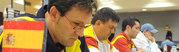 Ocho ajedrecistas ciegos, a la conquista del Open Internacional de Almansa.