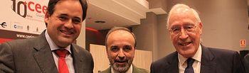 Paco Núñez asiste a la conferencia de Manuel Pizarro con motivo del X aniversario del CEEI Guadalajara.