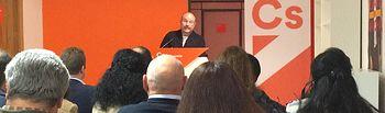 El secretario de Organización de Ciudadanos en Castilla -La Mancha, Alejandro Ruiz .