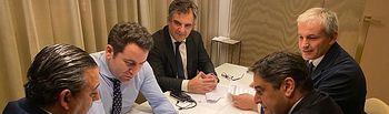 Callejas participa en una reunión con el Consejo General de Dentistas de España junto a Teodoro García Egea.