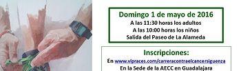 La AECC organiza la II Marcha contra el Cáncer en Sigüenza, este próximo domingo, día 1 de mayo