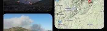 Imágenes del incendio de @bomberos_infoma