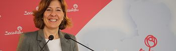 Blanca Fernández, portavoz del Grupo Parlamentario Socialista en las Cortes de Castilla-La Mancha.