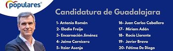 Candidatura del Partido Popular al Ayuntamiento de Guadalajara.