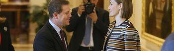 El presidente García-Page asiste este viernes a la entrega de los premios 'Reina Letizia 2015'. Foto: JCCM.
