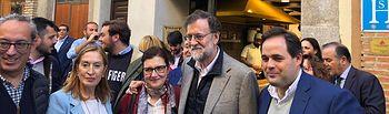 Mariano Rajoy en Toledo. Foto: @anapastorjulian .