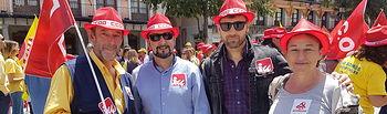 Izquierda Unida en las movilizaciones de la huelga en Correos.