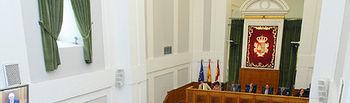 El presidente de Castilla-La Mancha, José María Barreda, destacó el mantenimiento de los puestos de trabajo en CCM y Caja Guadalajara durante su intervención en el Debate del Estado de la Región.