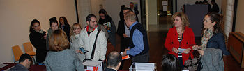 Personal de la UCLM votando en las pasadas elecciones.