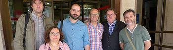 Miembros de la candidatura Unidos Podemos.