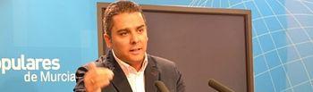 Jesús Cano, diputado regional y secretario de área de Agricultura, Agua y Medio Ambiente del Partido Popular de Murcia.