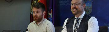 Alejandro Ruiz y Ángel Bachiller en rueda de prensa.