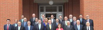 Su Majestad el Rey, Mariano Rajoy, Soraya Sáenz de Santamaría (Foto: Casa Real)