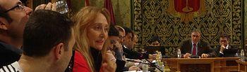María Jesús Amores durante su intervención en el pleno ordinario de enero de 2018.