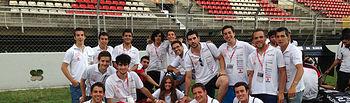 El equipo FS UCLM Racing Team en el circuito de Montmeló.