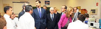 El presidente de Castilla-La Mancha, José María Barreda, acompañó hoy a los Príncipes de Asturias en la inauguración del curso escolar 2010-2011 en Formación Profesional, en el Centro Integrado de Formación Profesional 'Aguas Nuevas' de Albacete.