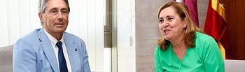 TOLEDO, 24 de julio de 2019.- La consejera de Educación, Cultura y Deportes, Rosa Ana Rodríguez, mantiene una reunión, en la Consejería, con el rector de la Universidad de Alcalá de Henares, José Vicente Sanz. (Fotos: Ángel Vidal Rabadán // JCCM).