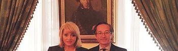 Foto de la reunión de Lassalle con Álla Yúrena (Ministerio)
