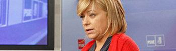 Elena Valenciano durante su rueda de prensa