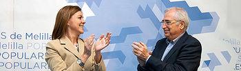 Mª Dolores de Cospedal y Juan José Imbroda en la Convención Regional del PP de Melilla