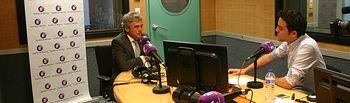 Leandro Esteban es entrevistado en el programa 'Parlamento' de RCM. Foto: JCCM.