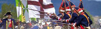 Imagen de la recreación de la Batalla de Almansa.
