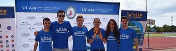 Representantes de la UCLM en el Nacional de Atletismo.