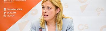 Carmen Picazo, portavoz del Grupo Parlamentario Cs en las Cortes de Castilla-La Mancha.