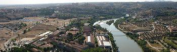 Vista aérea del Campus Tecnológico de la Fábrica de Armas de Toledo.