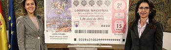 Cospedal e Inmaculada García presentan el Sorteo Especial de Loterías I. Foto: JCCM.