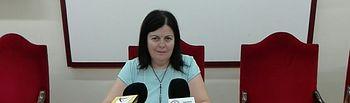 Trinidad Moyano, portavoz del equipo de gobierno y del grupo socialista en el Ayuntamiento de Villarrobledo.